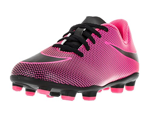 Nike Kids Jr Bravata II FG Pink Black/Black/Black Soccer Cleat 4.5 Kids US