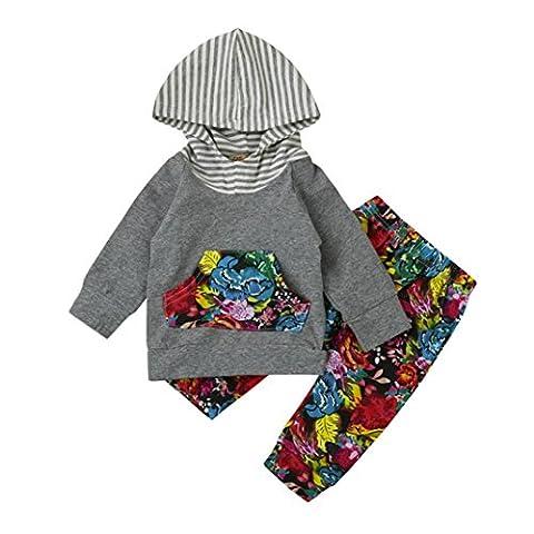Baby Anziehsachen Hirolan 2pcs Anzug Baby Kleinkind Junge Mädchen Blumen