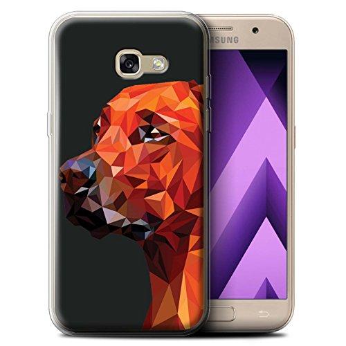 Stuff4® Gel TPU Hülle/Case für Samsung Galaxy A5 (2017)/Hund/Labrador Retriever Muster/Geometrisches Tier Tierwelt Kollektion (Hund-gehäuse)