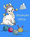 Strickmuster Notizen: Strickpapier Buch, Strick Journal