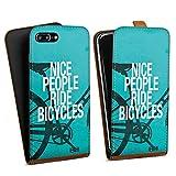 Apple iPhone 8 Plus Étui Étui à Rabat Étui magnétique Nice People Ride Bicycles