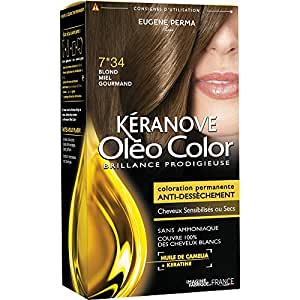Kéranove Oléo Color Coloration 7*34 Blond Miel Gourmand 0,20 kg