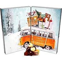 Hallingers Adventskalender edler Pralinenkalender Buch Retrobus | DoubleKarton | 300g