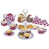 PlayGo - Set metal tazas de té y pasteles, 28 piezas (ColorBaby 42549)