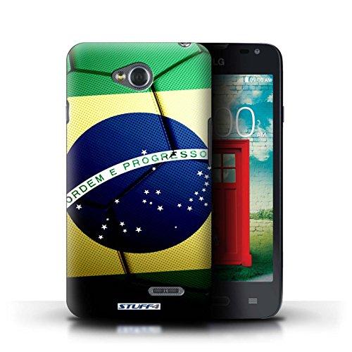 Kobalt® Imprimé Etui / Coque pour LG L65/D280 / Argentine conception / Série Nations de Football Brésil/Brésilien