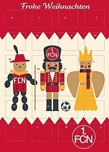 Adventskalender mit Milchschokolade 1 FC NÜRNBERG (120 Gramm) Limited Fan Edition