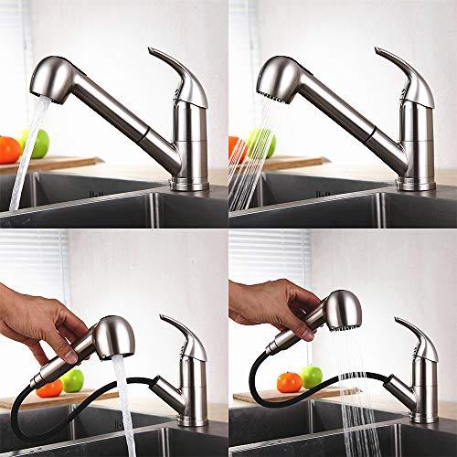 HOMELODY Küchenarmatur mit ausziehbarer Brause - 2