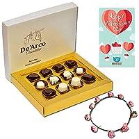 De'Arco Chocolatier Valentines Day Chocolate Gift, Premium Luxury Chocolates, 12pcs + Free Tiara