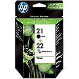 HP SD367AE#301 - Juego de 2 cartuchos de tinta, negro y trí-colour