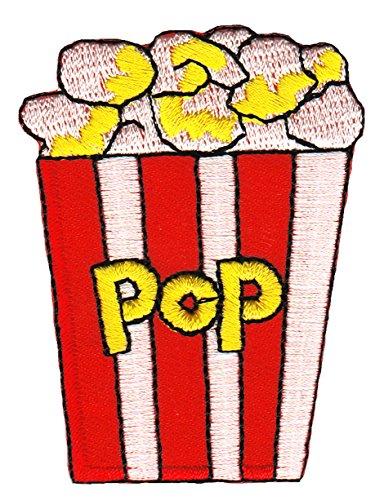 Popcorn Tüte Aufnäher Bügelbild - Popcorn Beschichtete