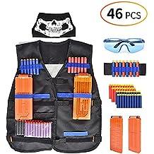 Bespick Gilet Tactique pour Les Enfants Kids Veste Tactique Jacket Kit pour Nerf Gun N-Strike Elite Series, Cadeau Parfait pour Chridren
