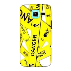 DASM United Samsung J2 Pro Premium Back Case Cover - Danger Zone Stripes