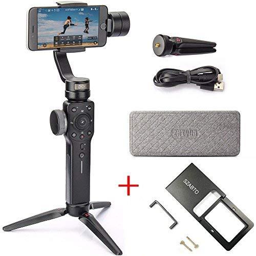 Zhiyun Smooth 4 3-Achsen-Handheld-Stabilisator Handheld with Adapter FüR Smartphone Kommt iPhone, Samsung. Huawei E GoPro Hero 6/5/4/3