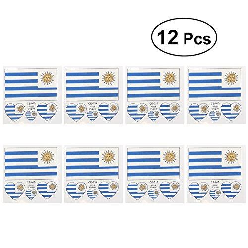 Luoem bandiera bandiera uruguay paesi tatuaggi temporanei di fan articolo mondiali di calcio 201812pezzi