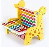 ACMEDE - Boulier Abaque En Bois Jouet Éducatif Calcul En Forme de Girafe Avec Instrument de Musique Xylophone Pour Enfant