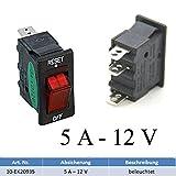 Sicherungsautomat Schutzschalter 12 Volt / 5 Ampere mit Beleuchtung