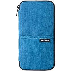 TRIWONDER Portadocumentos para Viajes Cartera de Pasaporte Impermeable Organizador de Documentos para Hombre Mujer (Azul Marino)