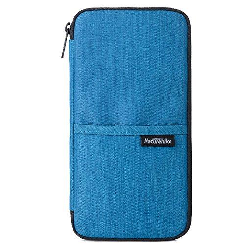 TRIWONDER Reisepass Wallet, Wasserdichte Familie Reisepass Dokument Organizer Tasche Geldbörse Reisetasche (Navy blau) - Hals Rfid-reise-geldbörse