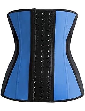 FeelinGirl - Corsé de moldeamiento de cintura para mujer, látex Azul azul