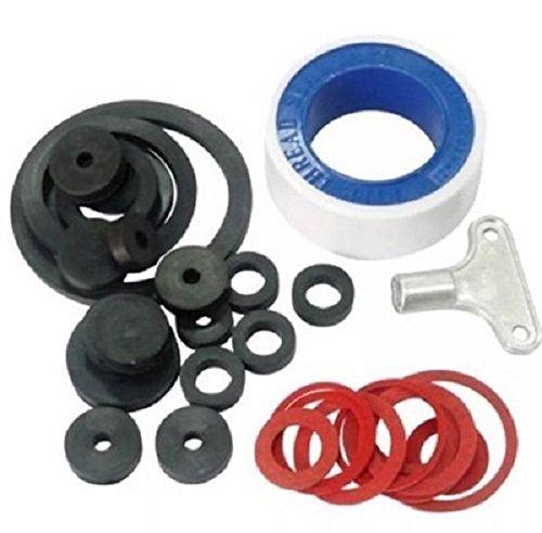 New 32Pc Plumbing Kit Washers Tap Rings Radiator Key Sealing Tape Accessories
