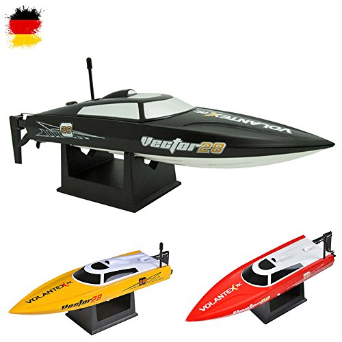 Speedboot Pro 2.4GHz - RC ferngesteuertes Boot mit 2,4GHz und vollproportionale Fernsteuerung, Schiff-Modell mit Top-Speed bis zu 30km/h, Racingboat, Ready-to-Run, Top-Design, Neu (Gas-boot, Kleine Motor)