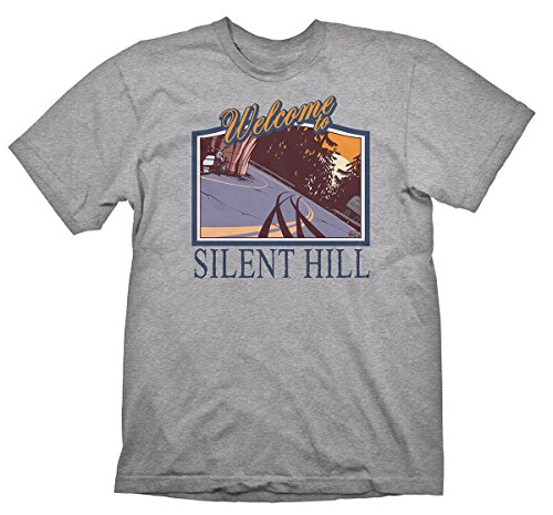 Silent Hill T-Shirt Welcome to Silent Hill Grey Melange, Size S [import allemand]