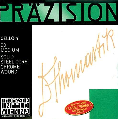 Thomastik Einzelsaite für Cello 4/4 Präzision - G-Saite Vollstahlkern, Chrom umsponnen, weich