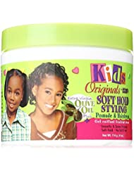 Africa's Best Kids Organics - Soft Hold Styling Pomade coiffant doux pour enfant - A base d'huile d'olive - Pot de 120 ml