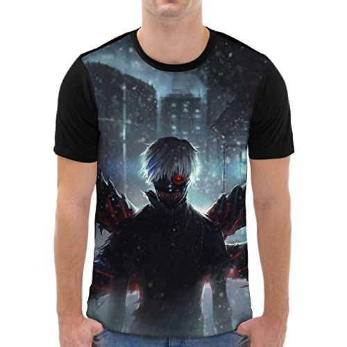 VOID Kaneki Encouter Men's Graphic T-Shirt all-over print tokyo anime manga, Size:S