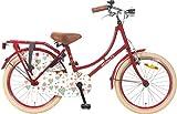 20 Zoll Popal Omafiets OM20 Mädchen Holland Fahrrad, Farbe:rot