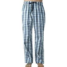 Hommes Pantalon de Pyjama en Coton Carreaux Bas de Pyjama Vêtement de Nuit  Confortable Doux Léger 5e93c140de29