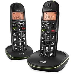 Doro Phone Easy 100W Duo Téléphone fixe sans-fil Noir (Pack Duo)