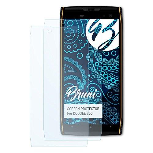 Bruni Schutzfolie für DOOGEE S50 Folie, glasklare Displayschutzfolie (2X)