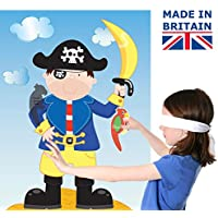 Lello & Monkey Pin the parrot on the pirate kids party game
