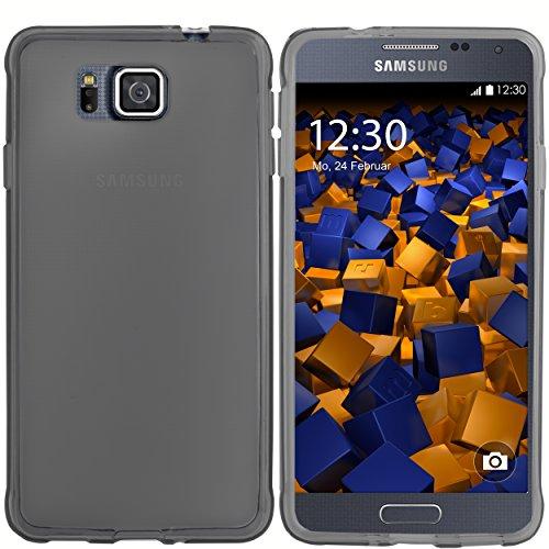 mumbi TPU Schutzhülle für Samsung Galaxy Alpha Hülle transparent schwarz