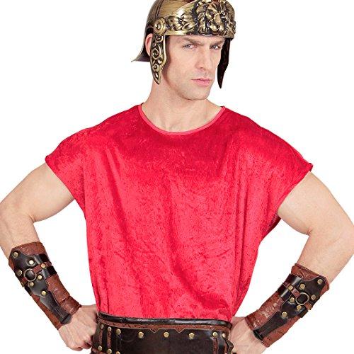 Mittelalter Kleidung Armschutz Krieger Ärmelschoner Gladiatoren Rüstung Antike Wikinger Kostüm Zubehör Römer Armschoner Lederoptik (Wikinger Kostüm Zubehör)