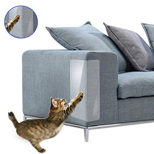 Wellouis 4 Pcs Cat Anti-Scratch Tape Deterrent Furniture Sofa Scratch Guard Protector Tape