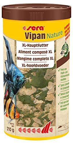 Sera Vipan Nature (210g) 1.000 ml das natürliche Hauptfutter aus großen Flocken ohne Farb- und Konservierungsstoffe