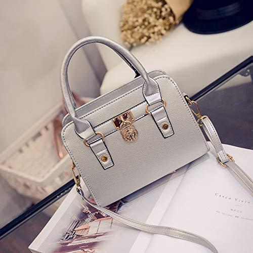 Umhängetasche - Frühlings- Und Sommer-Einkaufstasche Schlichte Und Elegante Umhängetasche In Silber