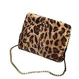 LIGEsayTOY UmhäNgetasche Kinder MäDchen Frauen Handtasche Vintage Rucksack Ted Baker Tasche Leopard Schulter Damen Taschen PersöNlichkeit Crossbody Taschen Kette Handtasche Taschen
