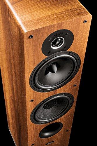 Paar Tesi 561 L Walnuss 3-Wege Standlautsprecher mit 16 cm Bass und Mitteltöner. -