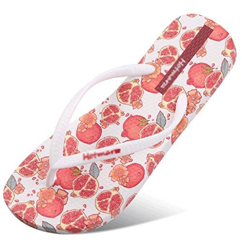 Pantoufles Femme Été Plat Slip Femme Sandales Plage Chaussures