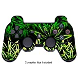 Skins for PS3 PlayStation 3 Controller Decals Sony Dualshock 3 Console Remote Wireless Controllers Skin Stickers - Weeds Black [ Controller Not Included ] by GameXcel ®