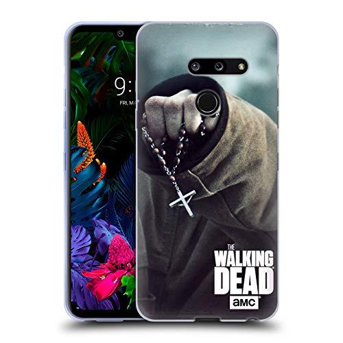 Head Case Designs Offizielle AMC The Walking Dead Rosenkranz Schlüssel Kunst Soft Gel Hülle für LG G8 ThinQ - Rosenkranz Kunst Der Der In
