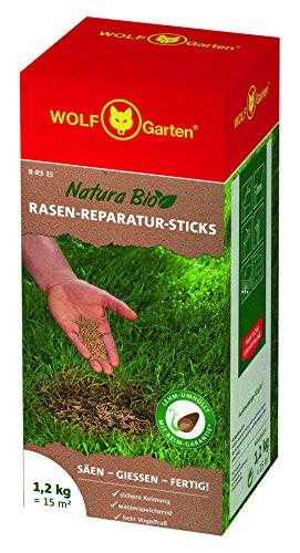 WOLF-Garten Saatgut, Natura Bio – R-RS 15 Rasen-Reparatur-Sticks für 15 m², 3837020