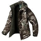 Southplay Herren Camouflage mit Kapuze Wasserdichte Winter Snowboard-Camo Braun (X-Large)