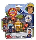 Idealtrend Feuerwehrmann Sam Figuren beweglich Doppelpack Auswahl Simba Elvis Ellie Lion: Farbe: Penny und Elvis