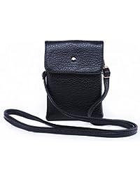 Hengying PU Leder Mini Handytasche Kleine Umhängetasche mit Vielen Fächern für Damen Mädchen Passt iPhone 7 Plus