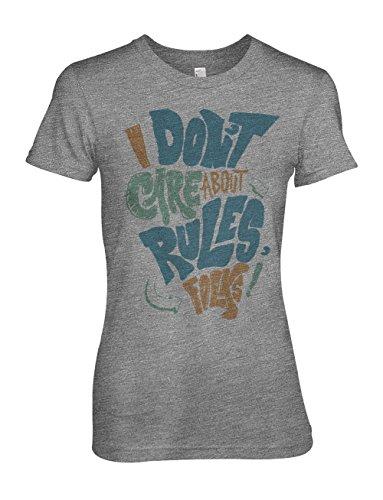 I Don't Care About Rules Folks Damen T-Shirt Grau
