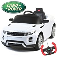 Duplay Range Rover Evoque  - 12V Licensed Electric Ride On Car Land Rover Jeep for Kids - White